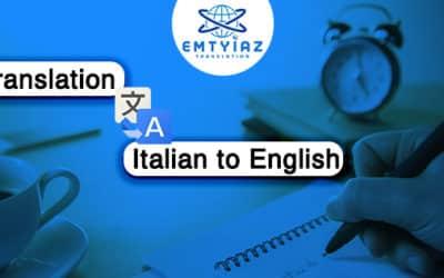 Italian to English Translation Service